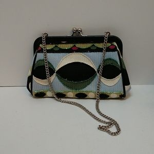Isabella Fiore beaded clutch mini bag
